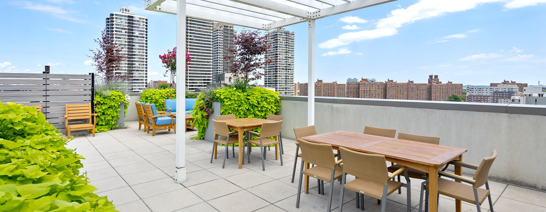 Rooftop Terrace with a view of The City