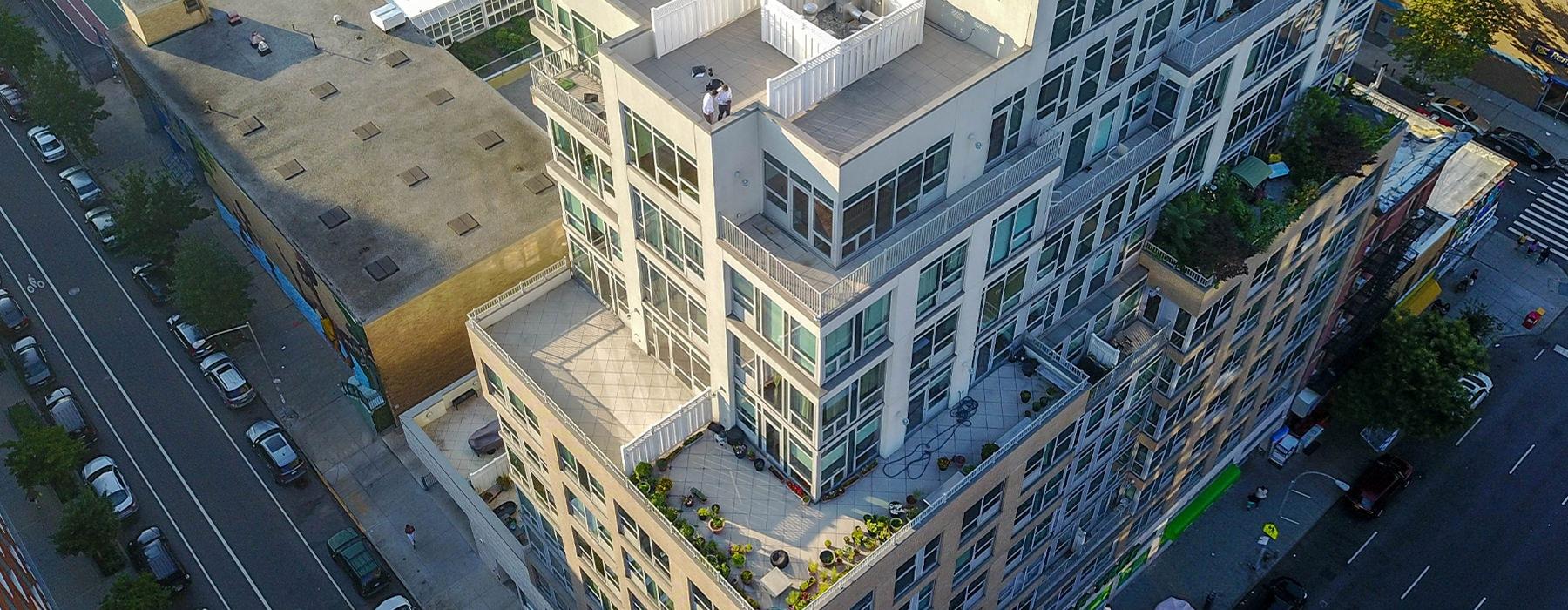 View the high-rise apartments, 119th & Third